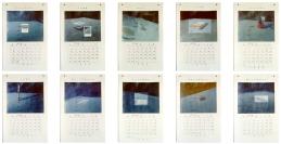 Calendrier - l'Homme est un animal social. Acrylique sur papier Japon - 40 x 26 pouces chacun - 1993
