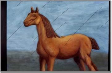 Faux jeu no 1. Acrylique sur bois - 48 x 72 pouces - 1995