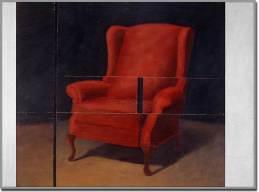 Intrusion no. 1. Acrylique sur bois découpé - 48 x 66 pouces - 1995