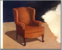 Intrusion no. 2. Acrylique sur bois - 48 x 60 pouces - 1995