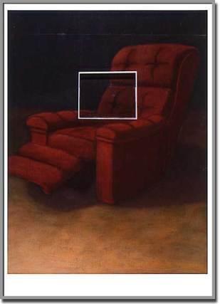 Réflexion / introspection. Acrylique sur bois - 66 x 48 pouces - 1992