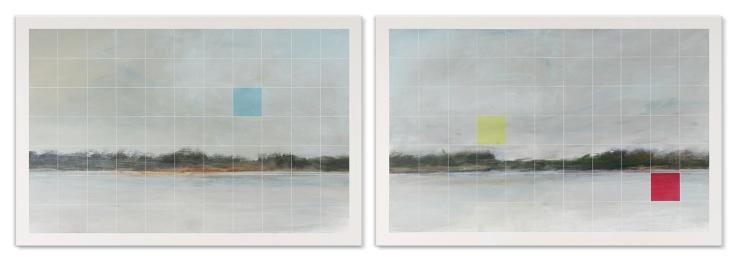 Tons primaires. Acrylique sur toile, 2 panneaux de 36 x 24 pouces, 2013