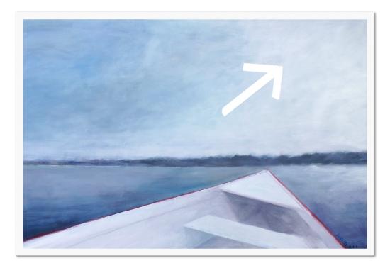 Traverser. Acrylique sur toile, 48 x 72 pouces, 2013