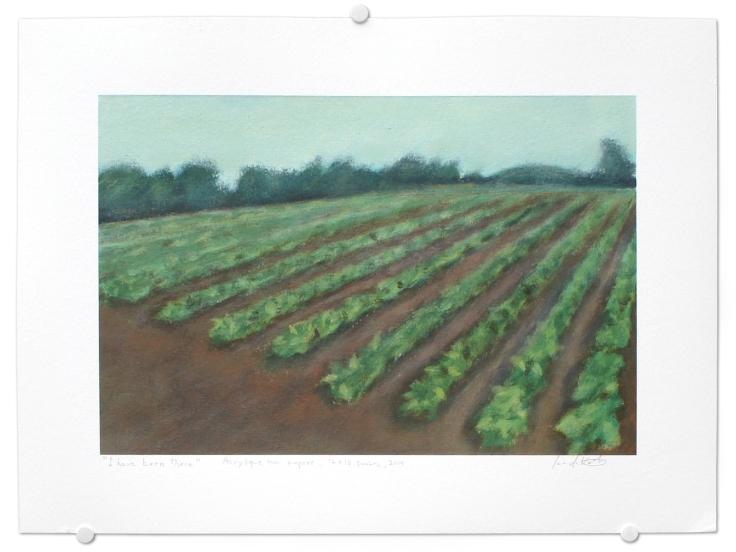 I have been there, acrylique sur papier, 12 x 16 pouces, 2014
