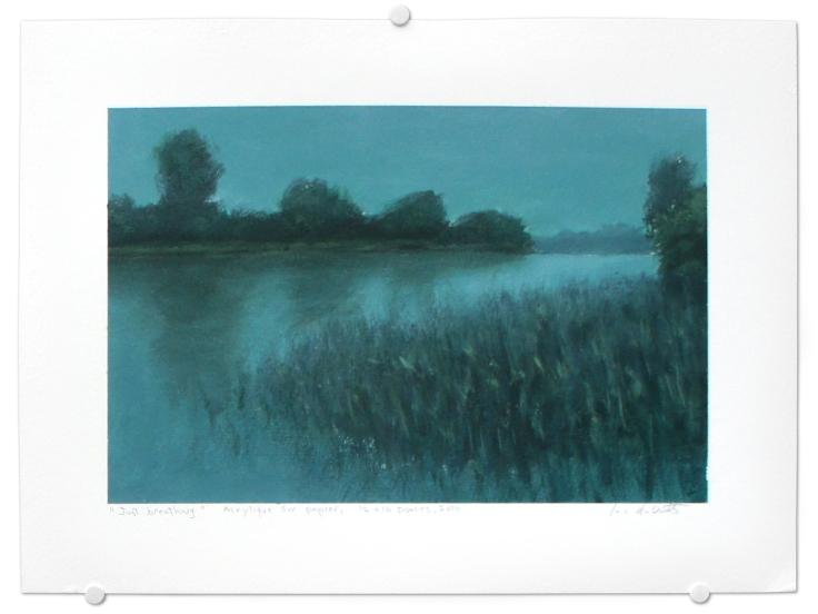 Just breathing, acrylique sur papier, 12 x 16 pouces, 2014