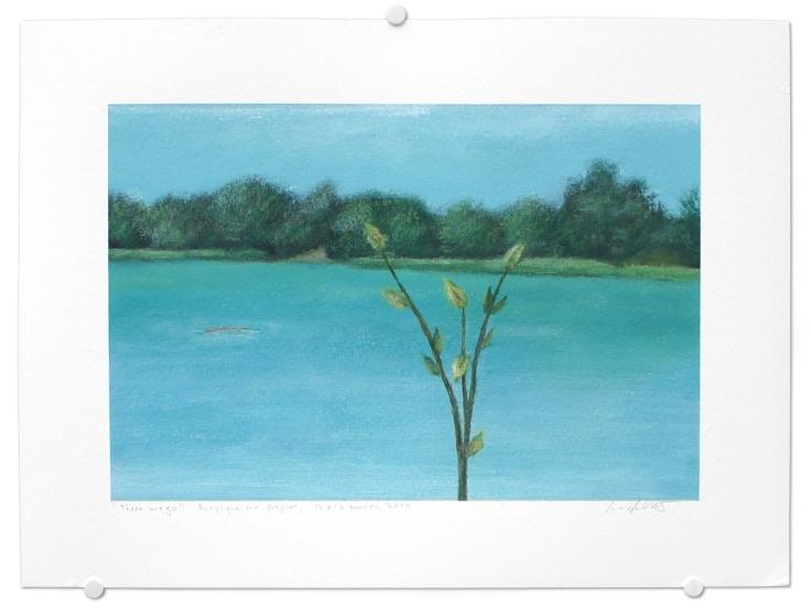There we go, acrylique sur papier, 12 x 16 pouces, 2014